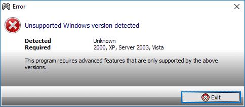 Установка: поддержка версий Windows